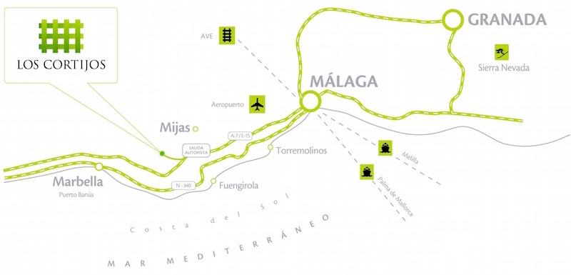 Los Cortijos Location
